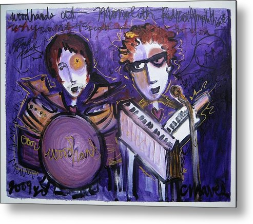 Laurie Maves Art Metal Print featuring the painting Woodhands At Monolith by Laurie Maves ART