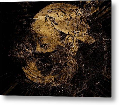 Portrait Metal Print featuring the photograph Zilla by LeeAnn Alexander