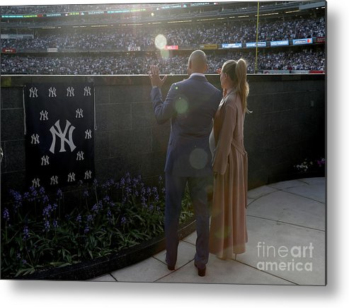 People Metal Print featuring the photograph Derek Jeter Ceremony by Elsa