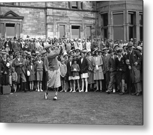 Crowd Metal Print featuring the photograph Bobby Jones by Topical Press Agency