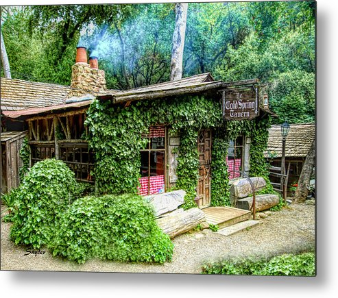 Cold Springs Tavern The Dining Room Metal Print featuring the photograph Cold Springs Tavern The Dining Room by Floyd Snyder