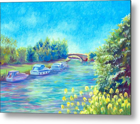 Landscape Metal Print featuring the painting Dreamy Days by Elizabeth Lock