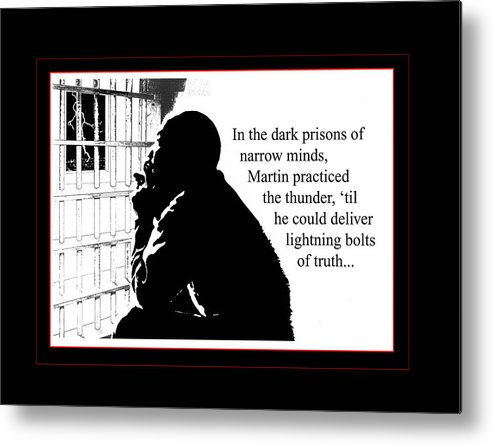 Martin Luther King Metal Print featuring the digital art Mlk In Jail by Richard Gordon