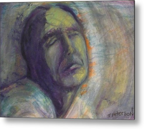 Painting Metal Print featuring the painting Break On Through by Todd Peterson