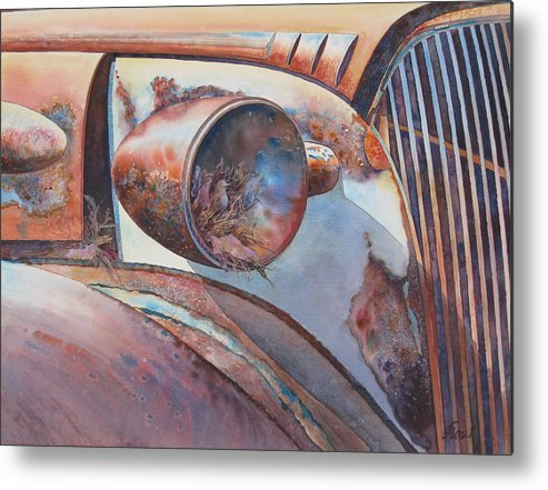 Thirty Seven Chevy Metal Print featuring the painting Nesting Place by Don Trout