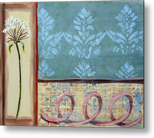 Ribbon Metal Print featuring the painting Spring Fling 3 by Judy Anderson