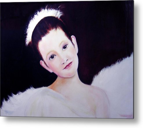 Angel Metal Print featuring the painting The Angel by Michela Akers