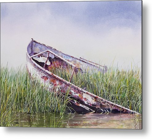 Boat Metal Print featuring the painting Final Journey by Ted Head