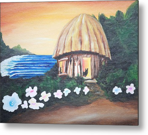 Surf Metal Print featuring the painting Home Sweet Home by Ronnie Jackson