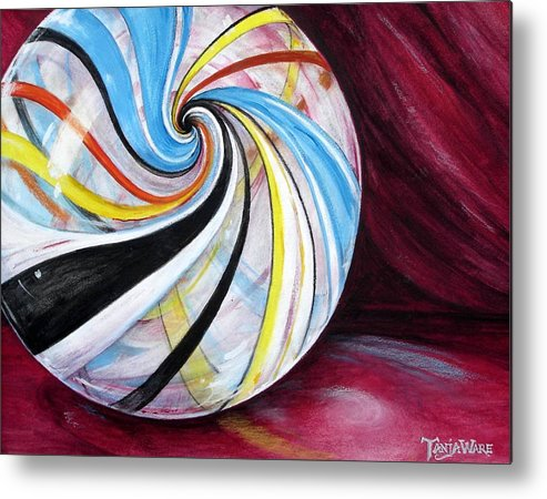 Marble Metal Print featuring the painting Marbleous by Tanja Ware