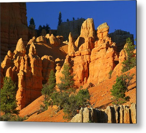 Red Rock Canyon Metal Print featuring the photograph Red Rock Canoyon At Sunset by Marty Koch