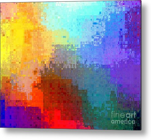 Citiscape Metal Print featuring the digital art Citiscape by Dale  Ford
