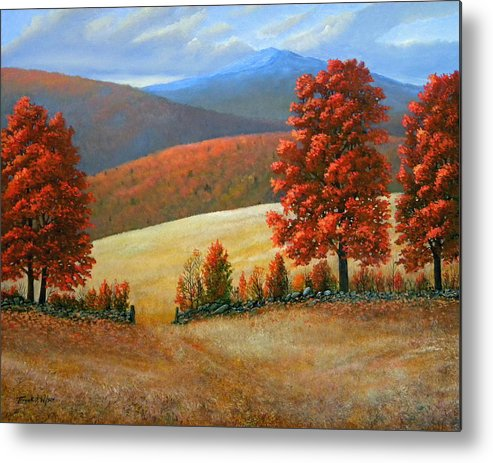 Landscape Metal Print featuring the painting Autumns Glory by Frank Wilson
