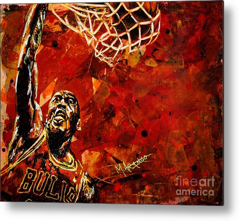 Michael Jordan Metal Print featuring the painting Michael Jordan by Maria Arango