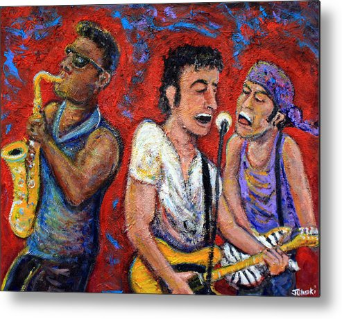 Bruce Springsteen Metal Print featuring the painting Prove It All Night Bruce Springsteen And The E Street Band by Jason Gluskin