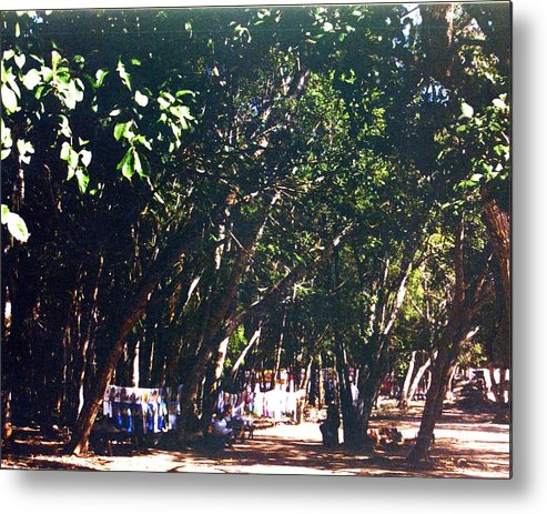 Trees Metal Print featuring the photograph Mayan Tapestry by Jennifer Ott