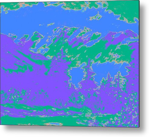 Green Metal Print featuring the digital art A Figment Of Imagination by Lessandra Grimley