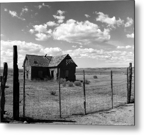 Old West Metal Print featuring the photograph Adobe Homestead by Allan McConnell