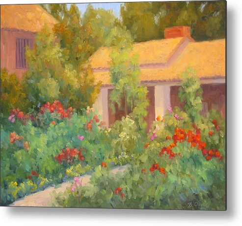 Garden Metal Print featuring the painting Basking In Sunshine by Bunny Oliver
