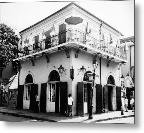Travel Metal Print featuring the photograph Bienville And Bourbon Streets by Allan McConnell