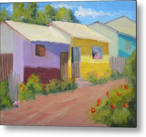 Honduras Metal Print featuring the painting Carmens Casa by Bunny Oliver