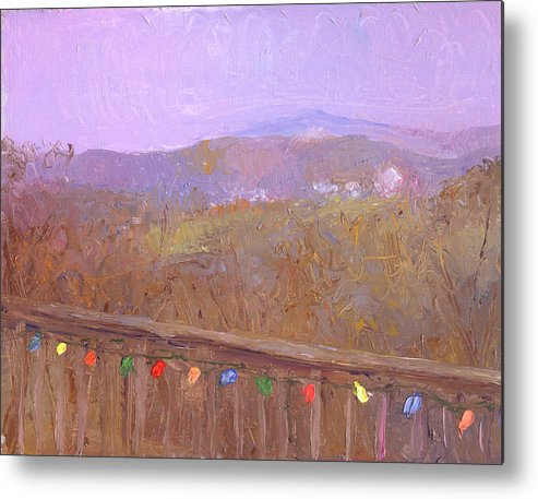 Landscape Metal Print featuring the painting Christmastime Present by Timothy Chambers