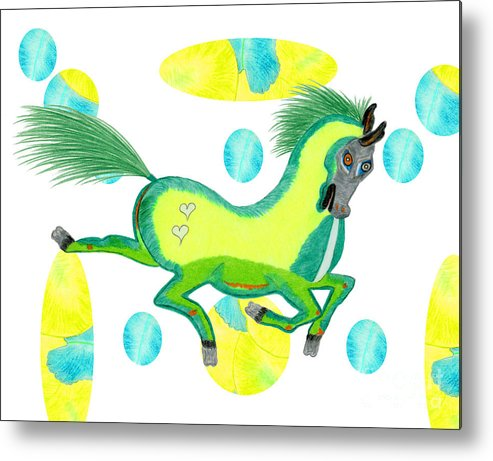 Horse Metal Print featuring the painting Imu by Tess M J Iroldi