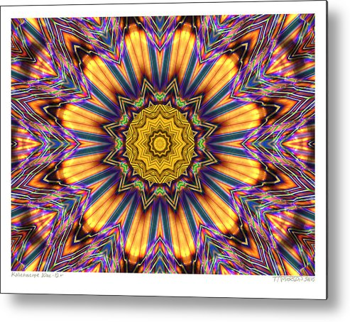 Kaleidoscopes; Mandala Images; Digital Art; Psychedelic Art; Op Art; Mytical Art Metal Print featuring the digital art kaleido Perfect 10ae 12-plus by Terry Anderson