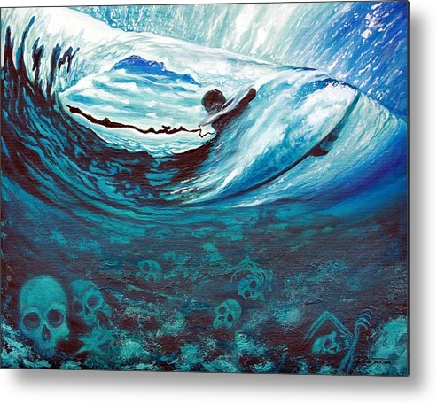 Surf Metal Print featuring the painting Live Free Or Die by Ronnie Jackson