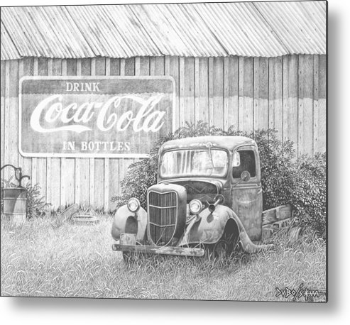 Antiques Metal Print featuring the drawing Memories by Howard Dubois