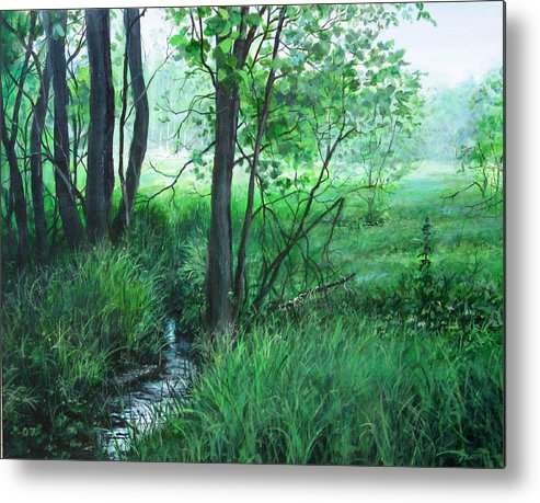Landscape Metal Print featuring the painting Opening by William Brody