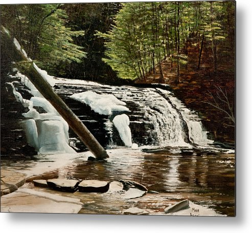 Landscape Metal Print featuring the painting Salt Springs Spring Melt by Mark Regni