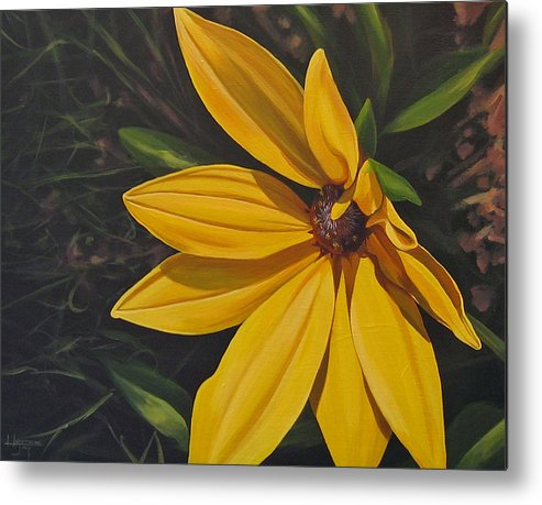 Wildflower Metal Print featuring the painting Sign Of Summer by Hunter Jay