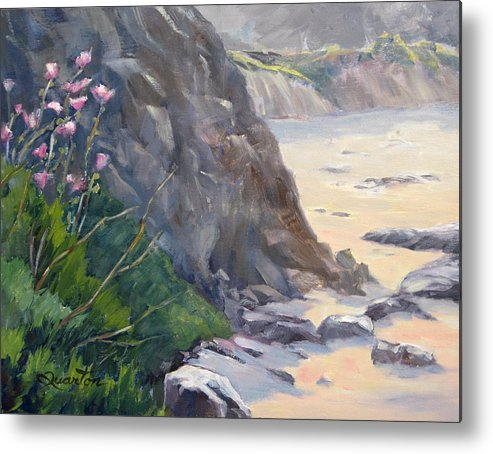 Landscape Metal Print featuring the painting Spring At Heisler Park by Lori Quarton