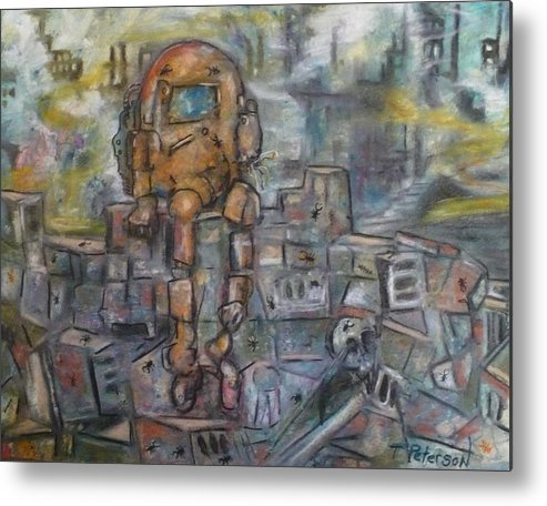 Crayon Metal Print featuring the painting Survivor  S by Todd Peterson
