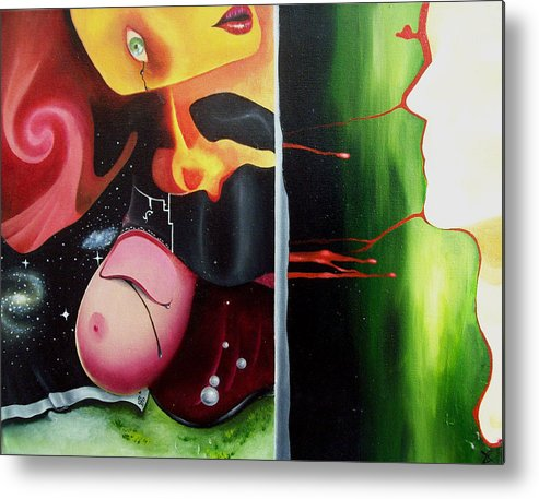 Surreal Metal Print featuring the painting The Truth About Beauty by Justin D B