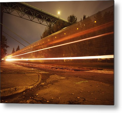 Nature Metal Print featuring the photograph Time Train by Benjamin Garvey