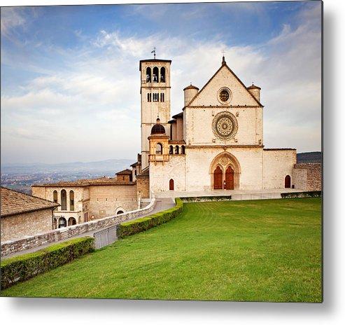 Italy Metal Print featuring the photograph Basilica Of Saint Francis by Susan Schmitz