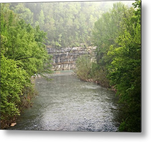 Buffalo National River Metal Print featuring the photograph Buffalo River Mist Horizontal by Marty Koch