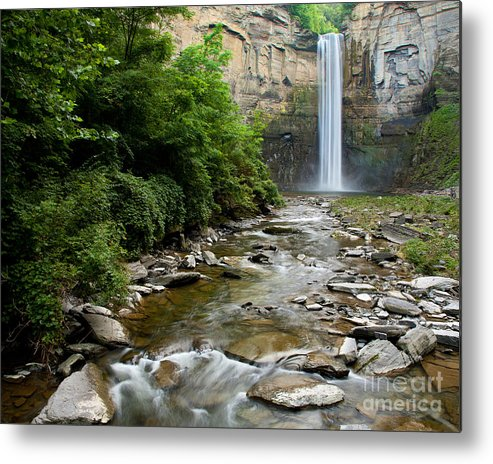 Taughannock Falls Metal Print featuring the photograph Silken Water Summer Waterfall by Lori Sulger
