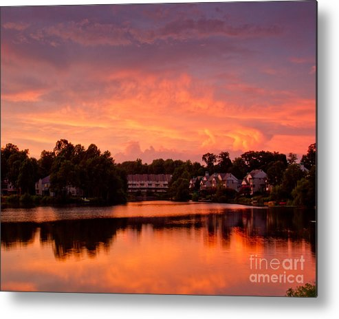 Sunset Metal Print featuring the photograph Sunset Lake by Dale Nelson