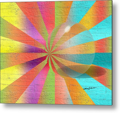 Abstract Metal Print featuring the digital art Digital Art 2 by Anthony Caruso