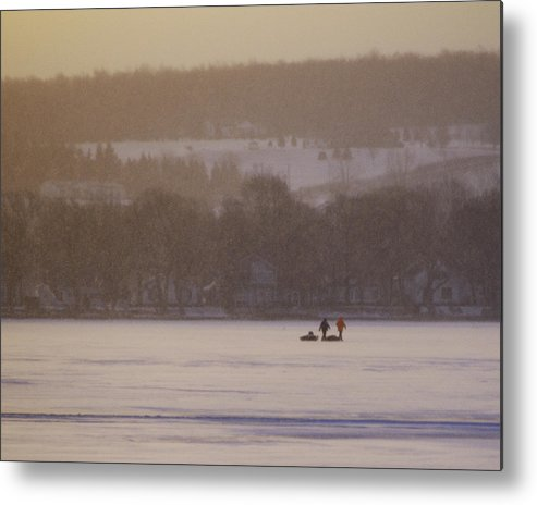 Canandaigua Lake Metal Print featuring the photograph Lake Crossing February 2010 by Joseph Duba