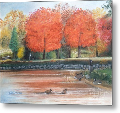 Penitentiary Glen Metal Print featuring the drawing Lazy Day At Penitentiary Glen by Lisa Urankar