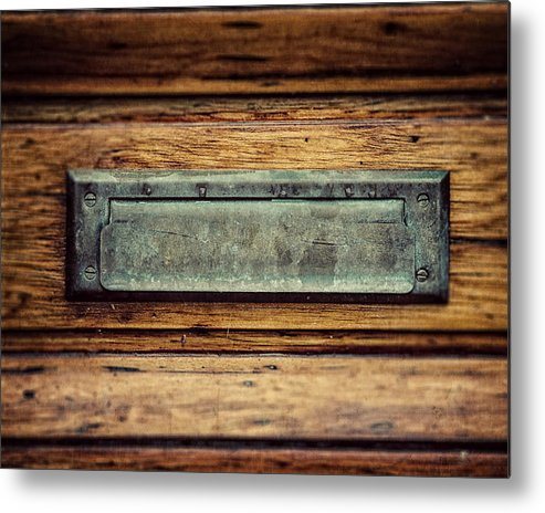 Entryway Decorating Metal Print featuring the photograph The Mail Slot by Lisa Russo