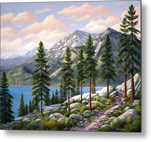 Landscape Metal Print featuring the painting Mountain Trail by Frank Wilson