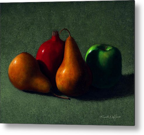 Still Life Metal Print featuring the painting Autumn Fruit by Frank Wilson
