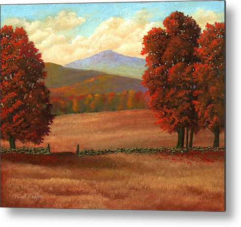 Autumn Metal Print featuring the painting Autumn Pastures by Frank Wilson