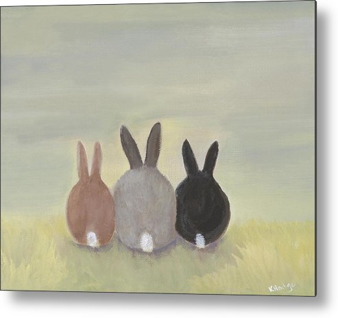 Bunny Metal Print featuring the painting Bunrise by Kimberly Hodge
