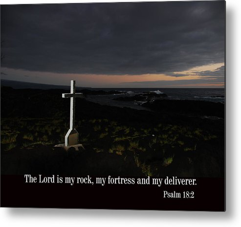 Christian Metal Print featuring the photograph Cross In The Early Morning by Steven Rice